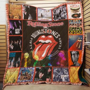 Rolling Stone 50th Anniversary Quilt Blanket