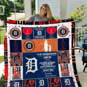 Personalized Detroit Tigers To My Granddaughter From Grandmom The Best Thing That Ever Happened To Me Quilt Blanket Great Customized Gifts For Birthday Christmas Thanksgiving Perfect Gifts For Detroit Tigers Lover