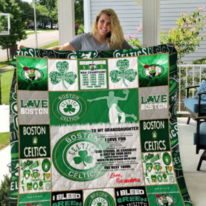Personalized Boston Celtics To My Granddaughter From Grandmom Should There Be A Time Quilt Blanket Great Customized Gifts For Birthday Christmas Thanksgiving Perfect Gifts For Basketball Lover