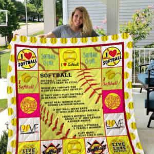 Softball Quilt Blanket