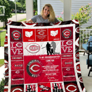 Cincinnati Reds – To My Granddaughter – Love Grandpa Quilt Blanket