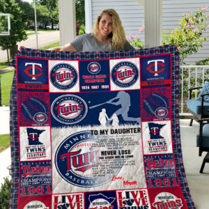 Minnesota Twins – To My Daughter – Love Mom Quilt Blanket