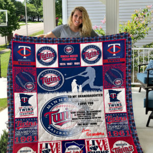 Minnesota Twins – To My Granddaughter – Love Grandmom Quilt Blanket