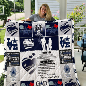 Dallas Cowboys – To My Son – Love Mom And Dad Quilt Blanket