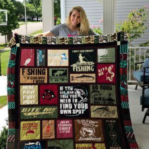 Gone Fishing Quilt Blanket