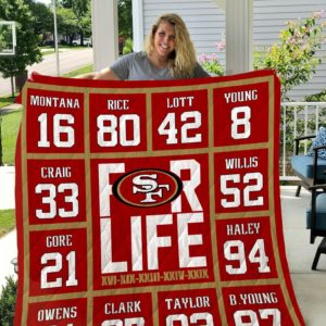 San Francisco 49ers For Life Quilt Blanket Great Customized Blanket Gifts For Birthday Christmas Thanksgiving