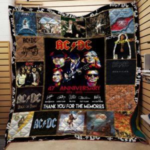 Ac Dc Collage Quilt Blanket