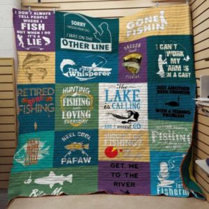 Fishing The Lake Is Calling And I Must Go Quilt Blanket Great Customized Blanket Gifts For Birthday Christmas Thanksgiving