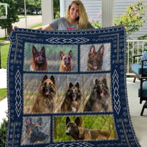 Belgian Malinois Picture Collection Quilt Blanket Great Customized Blanket Gifts For Birthday Christmas Thanksgiving