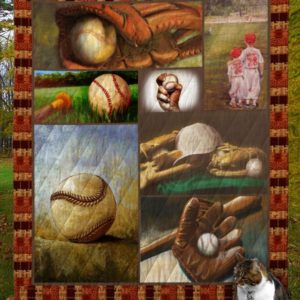 Baseball Bat Ball And Gloves Quilt Blanket Great Customized Gifts For Birthday Christmas Thanksgiving Perfect Gifts For Baseball Lover