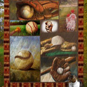 Baseball V5 Quilt Blanket
