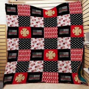 Thin Red Line Firefighter Quilt On Sale!