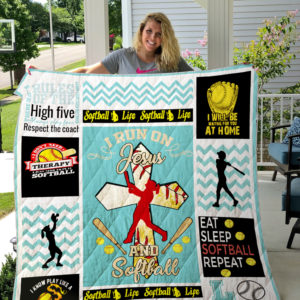 Softball I Will Be Waiting For You At Home Quilt Blanket Great Customized Gifts For Birthday Christmas Thanksgiving Perfect Gifts For Softball Lover