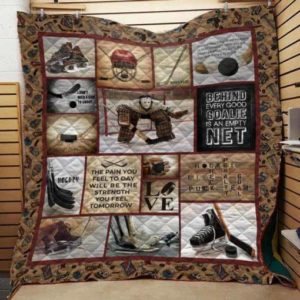 Hockey: Behind Every Good Goalie Is An Empty Net Quilt On Sale!