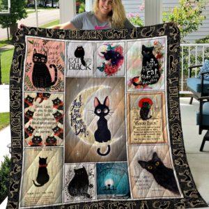 Black Cat Quilt Blanket