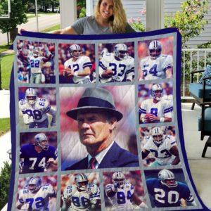 Dallas Cowboys Legends 01 Quilt Blanket