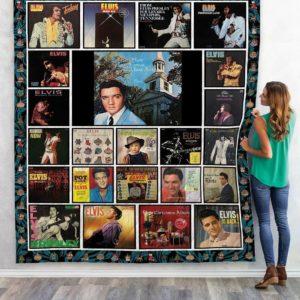 Elvis Presley Albums Quilt Blanket