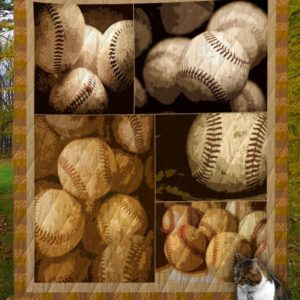 Baseball Vintage Ball Quilt Blanket Great Customized Gifts For Birthday Christmas Thanksgiving Perfect Gifts For Baseball Lover