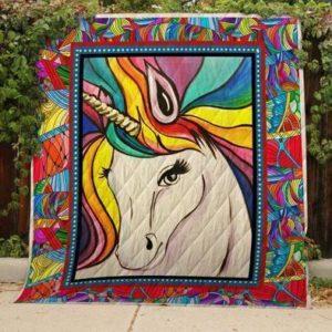 Rainbow Unicorn Quilt Blanket