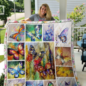 Vintage Butterfly Quilt Blanket