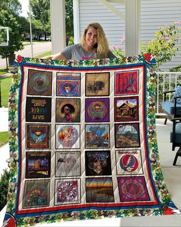Grateful Dead 02 Quilt Blanket