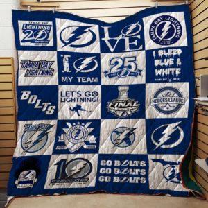 Tampa Bay Lightning Quilt Blanket