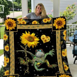 Bearded Dragon Sunflower Pattern You Are My Sunshine Quilt Blanket Great Customized Gifts For Birthday Christmas Thanksgiving Perfect Gifts For Bearded Dragon Lover