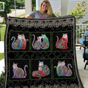 Cat-I-Tude Quilt Blanket