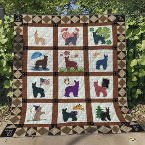 Miniature Schnauzer Pattern Quilt Blanket Great Customized Blanket Gifts For Birthday Christmas Thanksgiving