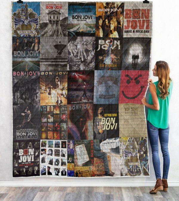 Bon Jovi Quilt Blanket
