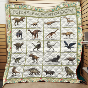 Future Paleontologist Dinosaur Quilt Blanket Great Customized Gifts For Birthday Christmas Thanksgiving Perfect Gifts For Dinosaur Lover