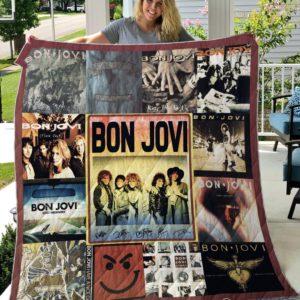 Bon Jovi Quilt Blanket Quilt Blanket