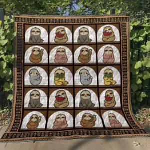 Baby Sloths Quilt Blanket