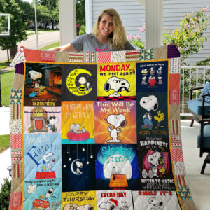 A Week Of Snoopy Quilt Blanket