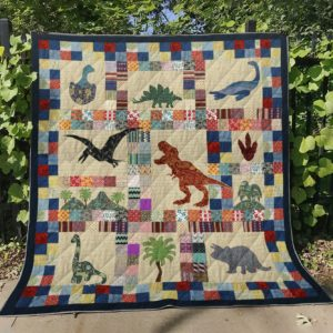 Dinosaur Pattern Quilt Blanket Great Customized Gifts For Birthday Christmas Thanksgiving Perfect Gifts For Dinosaur Lover