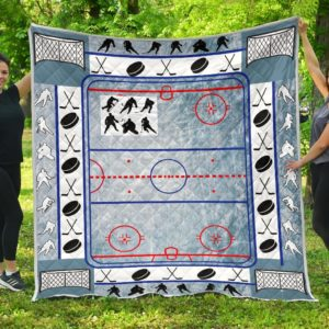 Ice Hockey Arena Quilt Blanket Great Customized Gifts For Birthday Christmas Thanksgiving Perfect Gifts For Ice Hockey Lover