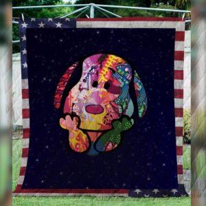 Snoopy America V1 Quilt Blanket