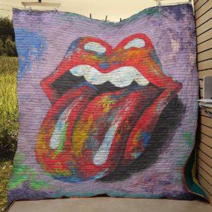Rolling Stones Quilt Blanket