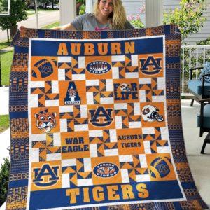 Auburn Tigers 1 Quilt Blanket
