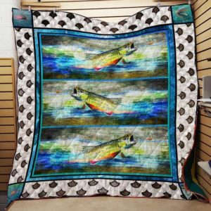 Fly Fishing Quilt Blanket