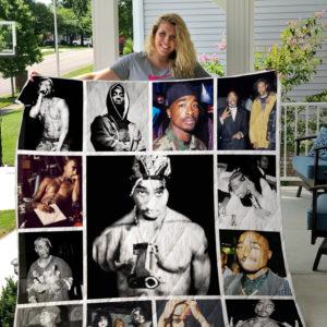 Tupac Shakur Quilt Blanket