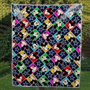 Dallas Cowboys Mickey Nfl Us Football 3d Quilt Blanket
