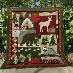 Animals Christmas Quilt Blanket Great Customized Blanket Gifts For Birthday Christmas Thanksgiving