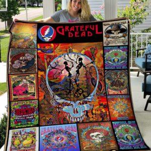 Grateful Dead Quilt Blanket