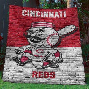 Cincinnati Reds Quilt Blanket Sleepy