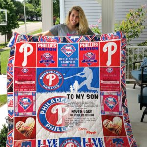 Philadelphia Phillies Custom Quilt Blanket 01