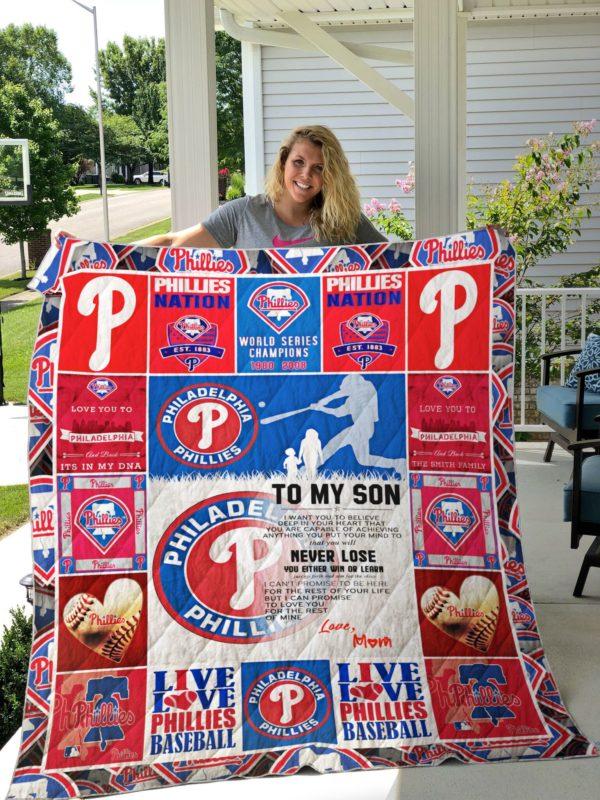Philadelphia Phillies Custom Quilt Blanket 01