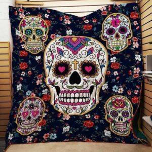Sugar Skull Quilt Blanket