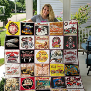 Indian Motorcycle Quilt Blanket