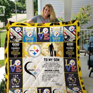 Pittsburgh Steelers Custom Quilt Blanket 02